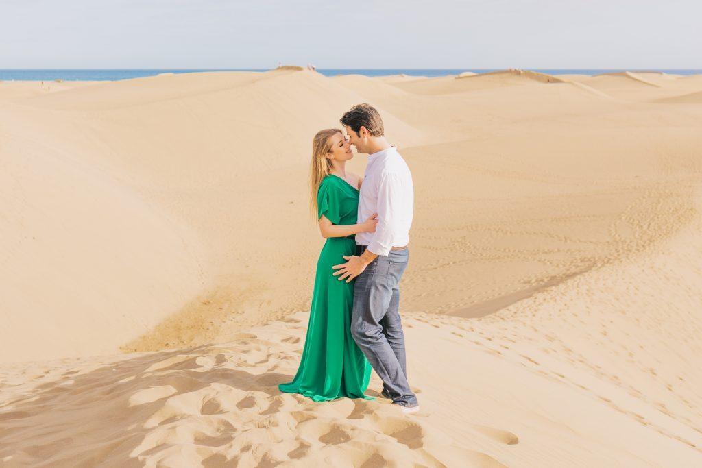 Romanttiset kuvaukset Maspalomas Dyyneila Gran Canaria